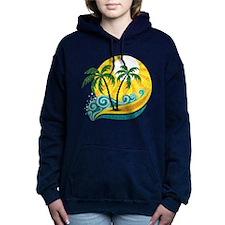 Sunny Palm Tree Hooded Sweatshirt