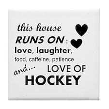 This House Runs On Hockey Tile Coaster