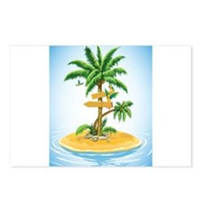 Palm Tree Direction Postcards (Package of 8)