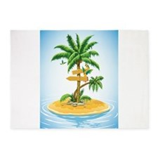 Palm Tree Direction 5'x7'Area Rug
