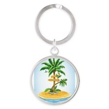 Palm Tree Direction Keychains