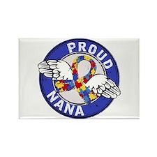 Autism Proud Nana 3 Blue Rectangle Magnet