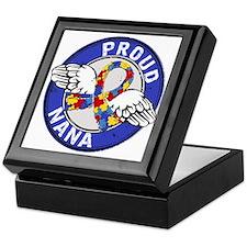 Autism Proud Nana 3 Blue Keepsake Box