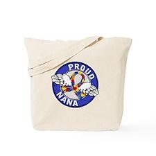 Autism Proud Nana 3 Blue Tote Bag