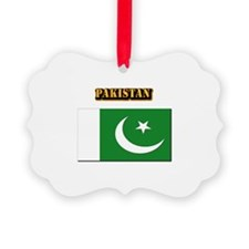 Flag of Pakistan with Text Ornament