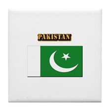 Flag of Pakistan with Text Tile Coaster