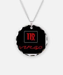 Zodiac, Virgo Necklace Circle Charm