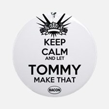 KeepReallyCalm Tommy Ornament (Round)