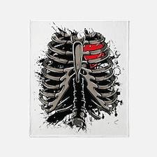 Skeleton Rib Cage Throw Blanket