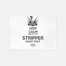 KEEP CALM STRIPPER 5'x7'Area Rug