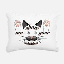 Show me your kitties! Rectangular Canvas Pillow