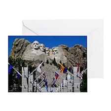 Mt Rushmore Avenue of Flags South Da Greeting Card