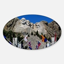 Mt Rushmore Avenue of Flags South D Decal