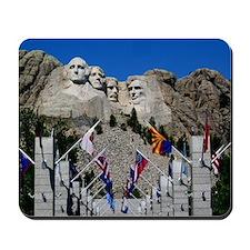 Mt Rushmore Avenue of Flags South Dakota Mousepad