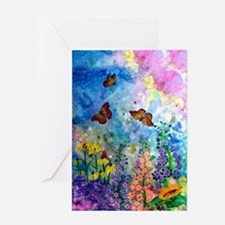 One Butterfly Garden Card Greeting Cards