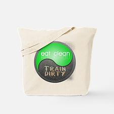 eat clean 12x12 circle Tote Bag
