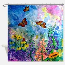 Butterfly Garden Shower Curtain