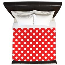 Red and White Polka Dots King Duvet
