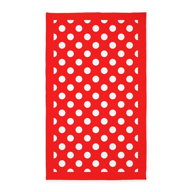 red and white polka dots 3 39 x5 39 area rug by homecooked