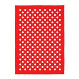 Large red polka dot indoor outdoor 5x7 Rugs