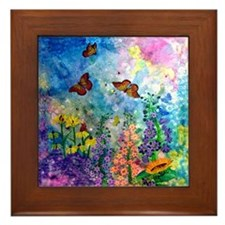 Butterfly Garden 6 Inch Framed Tile