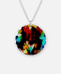 Glowing Geometric Abstract Necklace