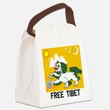 Free Tibet - Old Flag Canvas Lunch Bag