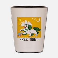 Free Tibet - Old Flag Shot Glass