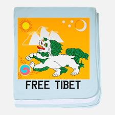 Free Tibet - Old Flag baby blanket