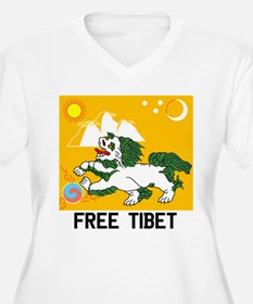 Free Tibet - Old Flag Plus Size T-Shirt