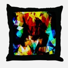 Glowing Geometric Abstract Throw Pillow