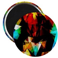 Glowing Geometric Abstract Magnets