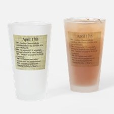 April 17th Drinking Glass