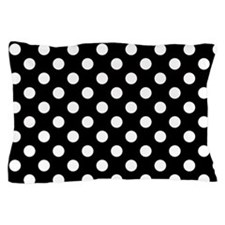 Black and White Polka Dots Pillow Case