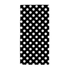 Black and White Polka Dots Beach Towel