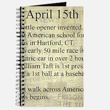 April 15th Journal