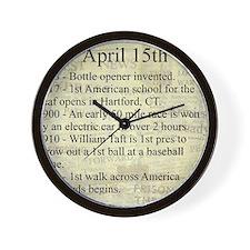 April 15th Wall Clock