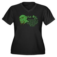 Half Orc Song Women's Plus Size V-Neck Dark T-Shir
