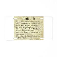 April 14th Aluminum License Plate