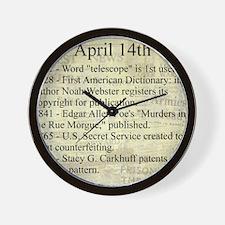 April 14th Wall Clock