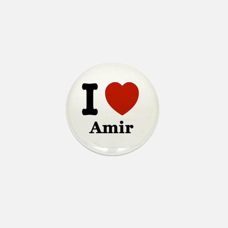 I love Amir Mini Button