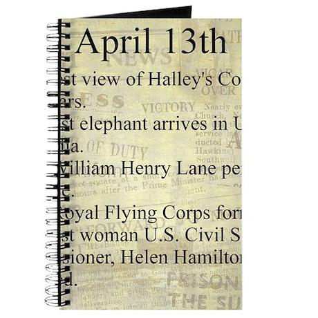 April 13th Journal
