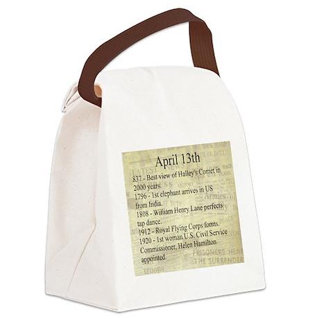 April 13th Canvas Lunch Bag