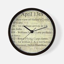 April 13th Wall Clock