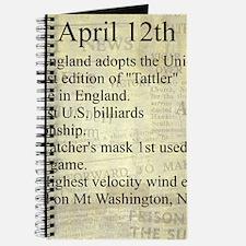 April 12th Journal