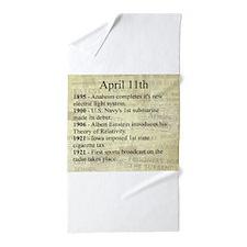 April 11th Beach Towel