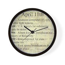 April 11th Wall Clock