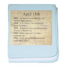 April 11th baby blanket