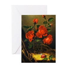Roses - Floral painting by Martin Jo Greeting Card