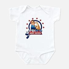 Rosie Proud Army Sister Infant Bodysuit